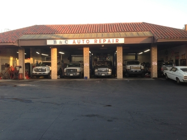 B&C Auto Repair - Front of all 6 bays