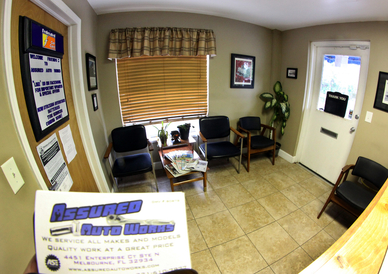 Assured Auto Works - The customer lounge.