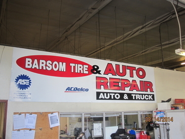 Barsom Tire & Auto Repair - Our old sign.