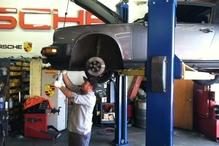 R & D Motorsports - Oscar hard at work on a 911.