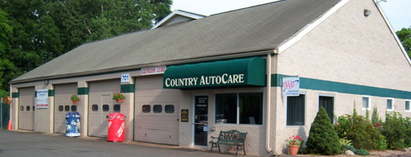 Country Auto Care & Tire Center - View of entrance to shop.