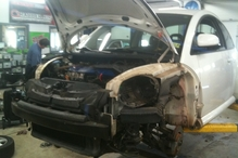 Country Auto Care & Tire Center - This is what has to be removed to replace the radiator in a VW Beetle.