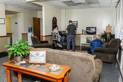 Creech Import Repair, Inc. - We have the most comfortable customer lounge in town! Wi-fi,  guest office, coffee and snacks available for your comfort.