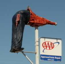"Dennis Automotive / Automatic Transmissions - People from all around New Orleans recognize ""The Man With His Head Stuck In The Transmission""!"