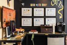 "The Auto Shop - Our ""wall of fame"". Certifications for our advisors and technicians."