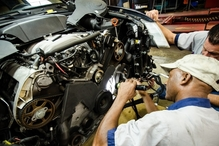 Expertech Auto Repair & Tire Service - Mikey & Lenny going to work on VW Phaeton.