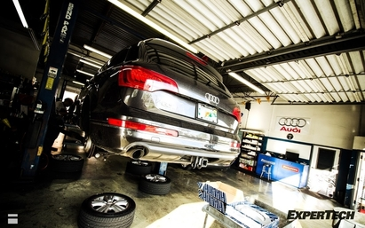 Expertech Auto Repair & Tire Service - We have an expert for most late model domestic and foreign vehicles. New tires going on an Audi Q7.