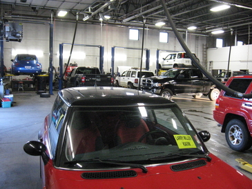 Fifth Gear Automotive - inside shop