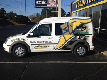 D.W. Campbell Goodyear - Our Courtesy shuttle service.