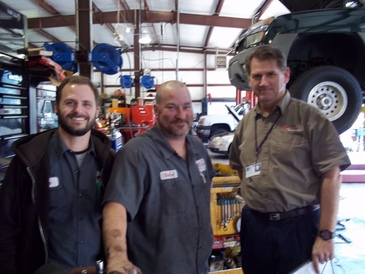 KAMS Auto Service Center - Two of our ASE technicians and David, our Service Writer.