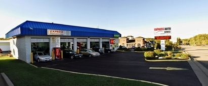 Express Auto Service - Our front building where we typically do oil changes, state inspections and emissions.