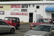 Express Auto Service - Our rear shop where we do most repairs.