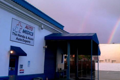 Auto Medics | Japanese Auto Repair in San Mateo - Rainbow upon arriving at the shop one morning