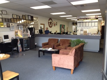 Evergreen Autoworks - Customer Waiting Area and Service Counter