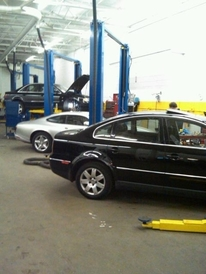 Prestige Automotive - Working on a VW Passat, Audi A4 Quattro & Jaguar XK8 Coupe