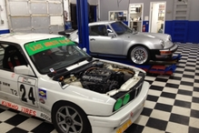 BTM Motorwerks - Customer cars in the shop. 1978 Porsche 930 Turbo and a E30 M3