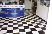 Polar Bear Auto Care - Love the new flooring, sure beats carpet...