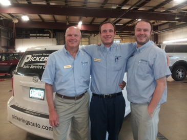 Pickering's Auto Service Center - Randy Pickering with son's Trent and Brandon serving in our family business since 1976 but spanning over 5 generations in the automotive industry.