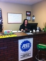 Advanced Automotive Diagnostic and Repair - This is our front counter where we also have coffee available.