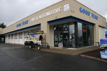 Goodyear Tire And Automotive - Easy to find location. 1/2 mile south of the South Hill Mall on Meridian and right across the street from McDonalds and Michaels.
