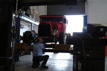 Mike Roy Automotive - Our Alignment Tech Ed doing an Alignment.