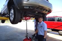 Mike Roy Automotive - Our tech Jerry doing A service & inspection.