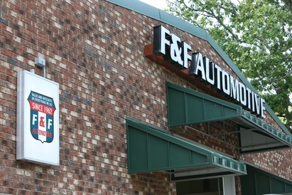 F & F Automotive - New building with state of the art equipment, waiting area, free coffee, snacks  conveniently located near Weaver Street market, Harris Teeter, CVS pharmacy, Open Eye Café, Tylers, Spotted Dog,...