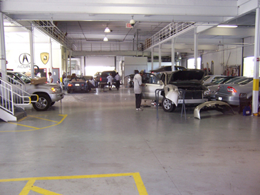 Auto Tech And Body - Auto Tech and Body's work area is a 22,000 sq. feet of mechanical, body, paint, and maintenance booths.