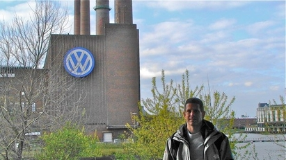 German Car Depot | Volkswagen, Audi, Mercedes Benz, BMW, Mini - Ollie at VW factory In Wolfsburg Germany.