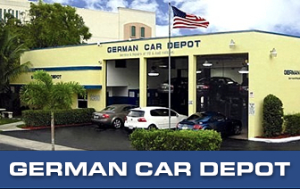 German Car Depot | Volkswagen, Audi , Mercedes Benz, BMW, Mini - Front View of German Car Depot with 8 lifts and space for over 150 cars .