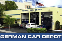 German Car Depot   Volkswagen, Audi, Mercedes Benz, BMW, Mini - Front View of German Car Depot with 8 lifts and space for over 150 cars .