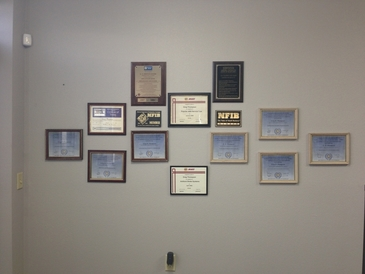 G. T. Service Center - Just a few certificates.