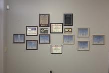 G. T. Service Center - Just a few certificates.